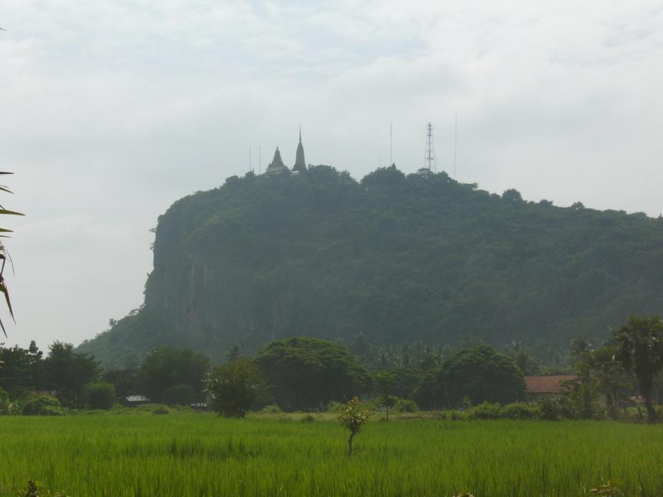 Mountain and temple near Battambang