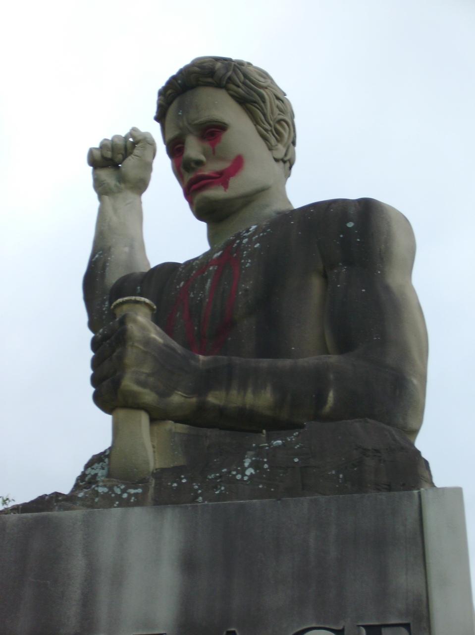 V for Vendetta statue