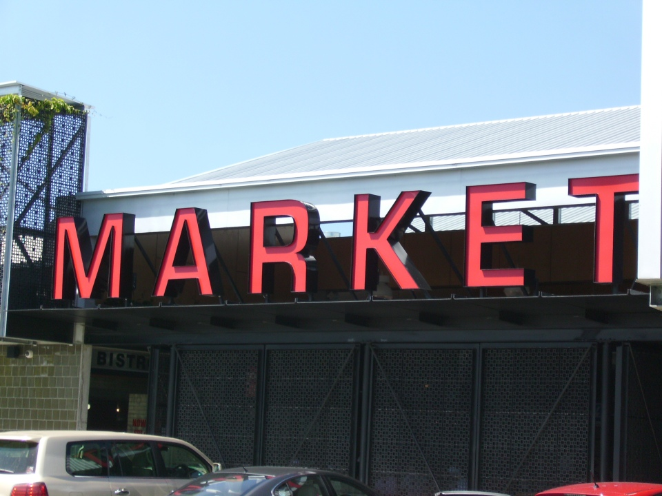 Ferry Road market (in case you needed it spelled out in big red letters)