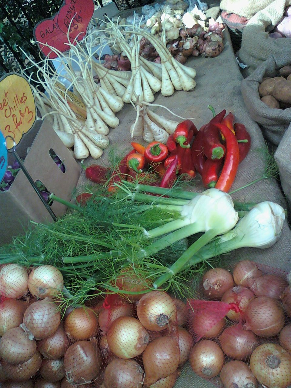 just one of the many produce stalls