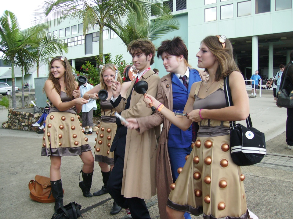 Two Doctors and some Dalek girls