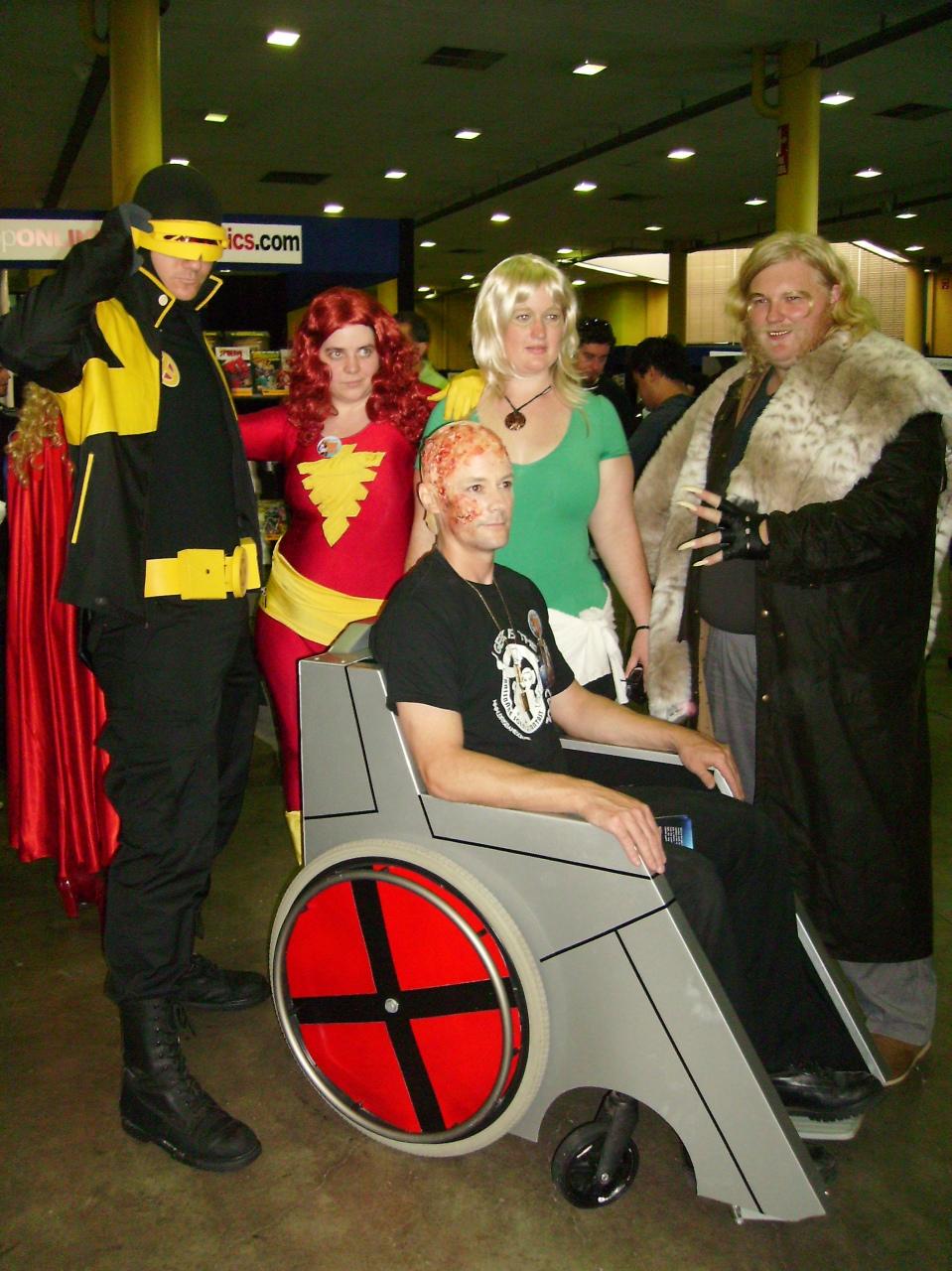 Professor X and assorted mutants