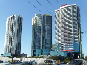 The three towers of Southport Central