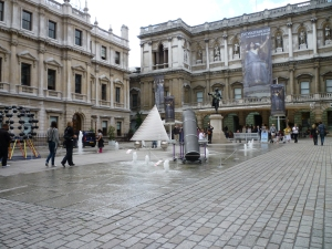 art exhibits in the courtyard