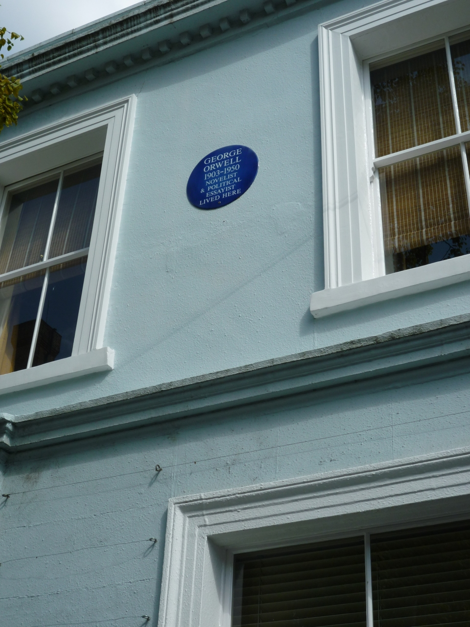I don't know if you can read the blue plaque but George Orwell lived there
