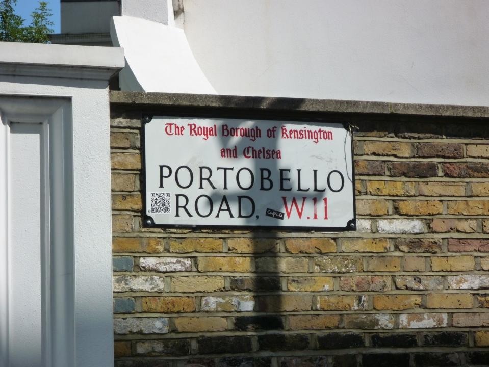 Portobello sign - duh